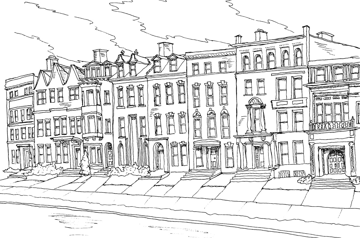 architecture coloring book pages - photo#3