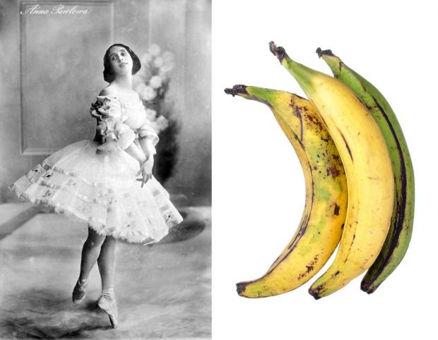 The raw elements for a great dessert: ballet and a starchy vegetable.