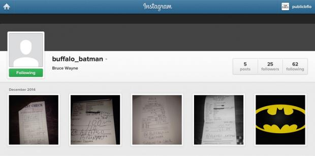 @Buffalo_Batman's Instagram account is riddled with messages to support local businesses.