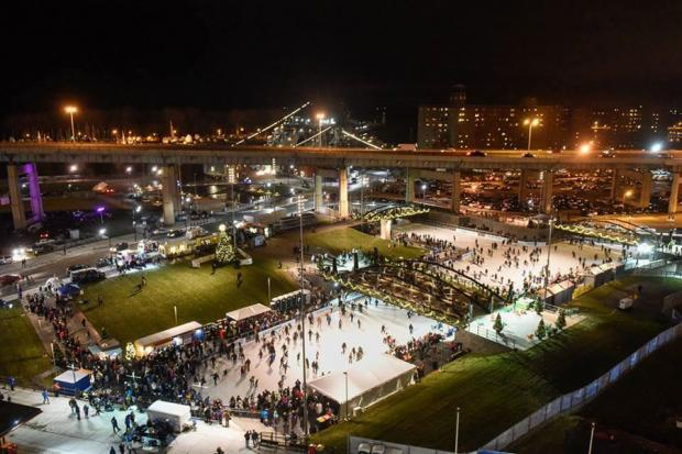 The ice rinks at Canalside.