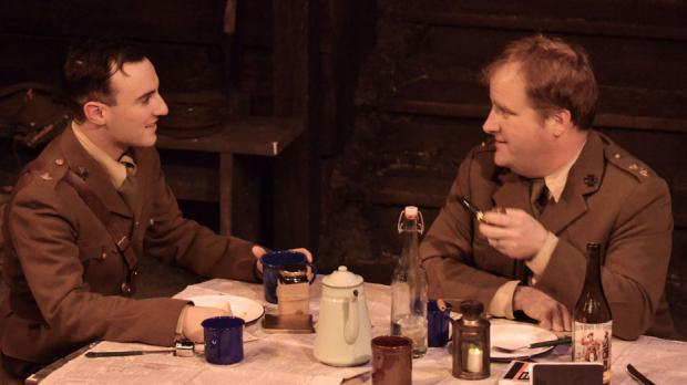 Christian Brandjes (right) in the current Kavinoky production of Journey's End.
