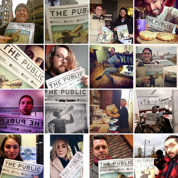 Our first day of #ThePublicSelfie for Issue No. 1 of The Public.