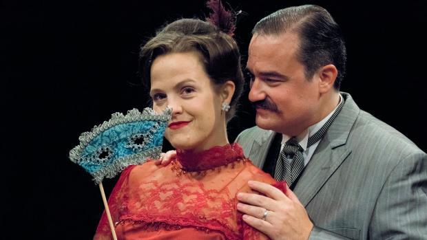 Jenn Stafford (as Desiree Armfelt) and Matt Witten (as Fredrik Egerman) in the Irish Classical Theatre's production of A Little Night Music. Photo by Gene Witkowski.