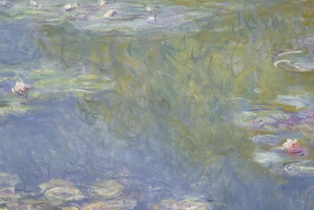 A close-up of Monet's Water Lillies.