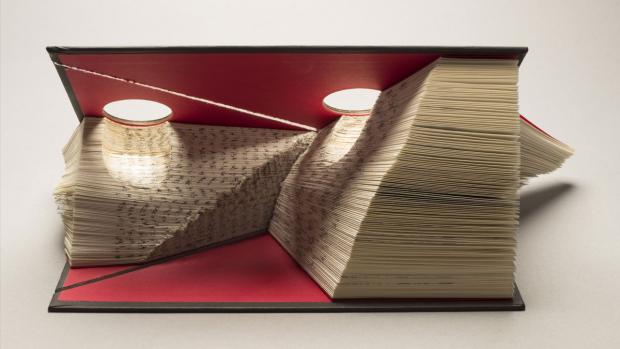 Stitch in Time, an altered book by Jozef Bajus.