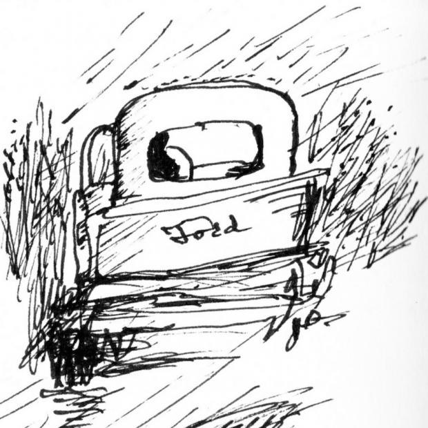 Drawing by J. Tim Raymond.