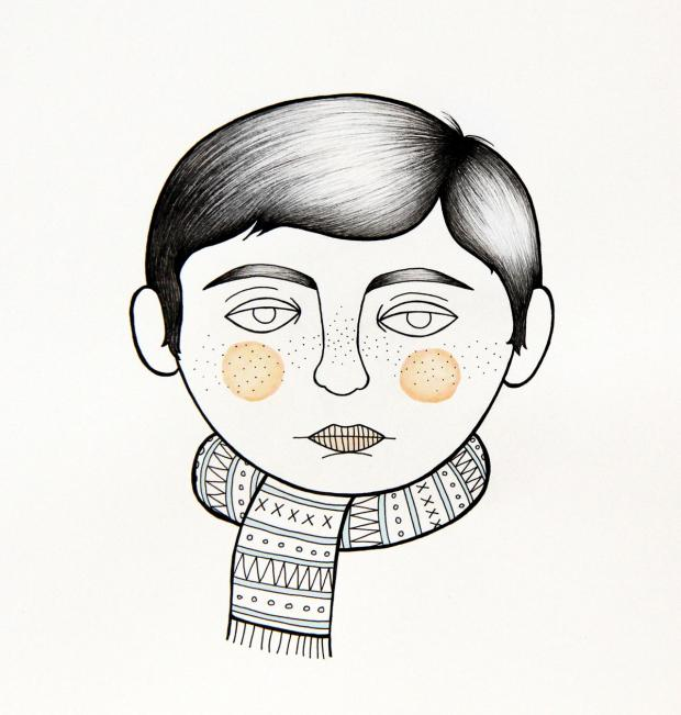 Boy with Scarf by Julie Molloy