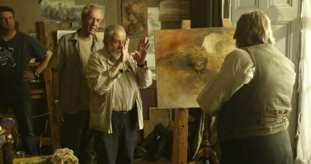 Mike Leigh directs Timothy Spall in Mr. Turner.