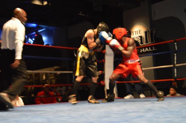 Jeffrey Nygayot battling Mike Vega