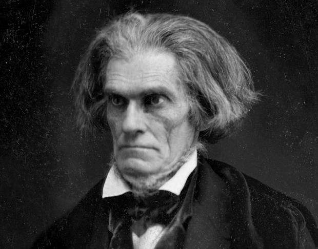 The 1849 Matthew Brady image of John C. Calhoun, from Wikimedia Commons.