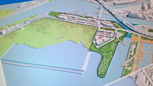 ECHDC's plan for condominiums at Wilkeson Point, beside the Times Beach Nature Preserve.