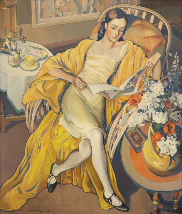 Resting by Alexander O. Levy, 1930.