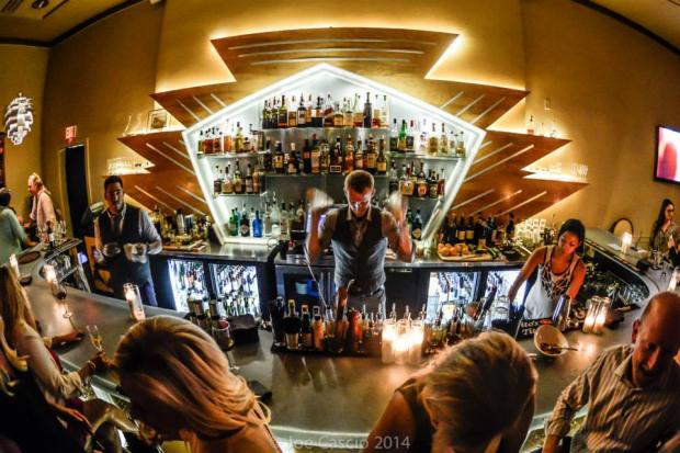 Tony Rials behind the bar at Bourbon and Butter. Photo by Joe Cascio.