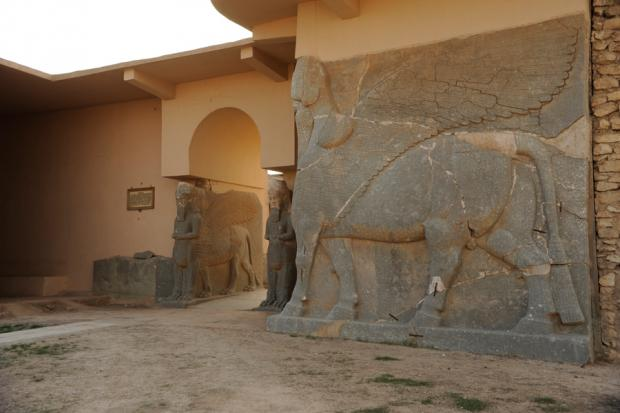 Winged-bull guardians of the ancient city of Nimrud were reportedly destroyed by ISIS bulldozers earlier this month.