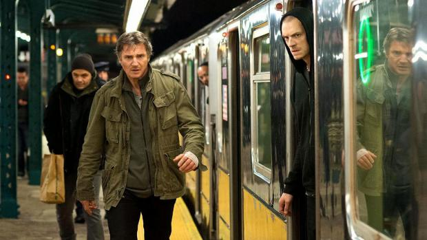 Liam Neeson and Joel Kinnaman in Run All Night.