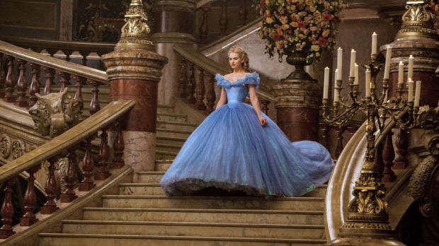 Lily James in Cinderella.
