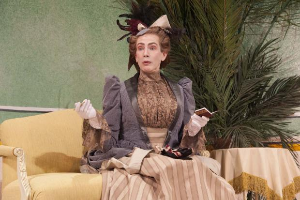 Anthony Chase as Lady Bracknell in The Importance of Being Earnest, opening at SUNY Buffalo State on March 12. Photo by Kwame Agyapon/SUNY Buffalo State.