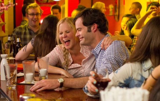 Amy Shumer and Bill Hader in Trainwreck.