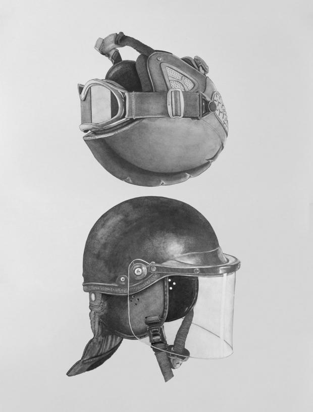 Two Helmets by Patrick Foran.