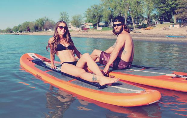 Meet Christan Edie and Kevin Cullen of SUP Erie Adventures. Photos by Billy Sandora-Nastyn.