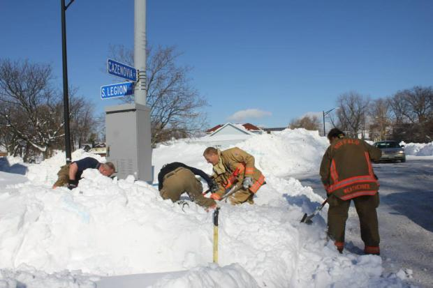 First responders dig out South Buffalo during November 2014 lake effect snowstorm. Photo by Jay Burney