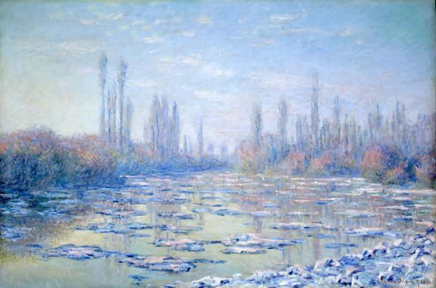 Les Glaçons (The Ice Floes), 1880, by Claude Monet.