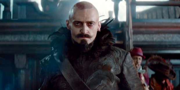 Hugh Jackman as Blackbeard in Pan.