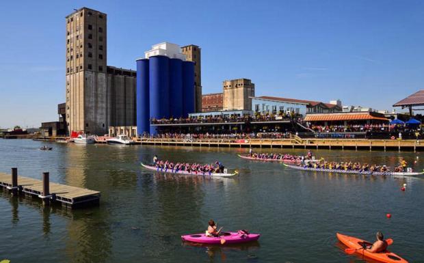 Riverworks Regatta by Masinka via Flickr
