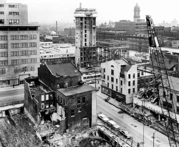 looking backward  main place renewal project  1965