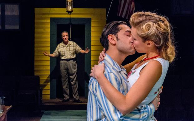 Peter Palmisano, Anthony Alcocer, and Candice Kogul in All My Sons. Photo by Gene Witkowski.