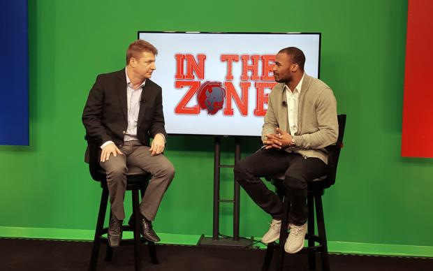 Dave Jickster and Robert Woods on the set on In the Zone.