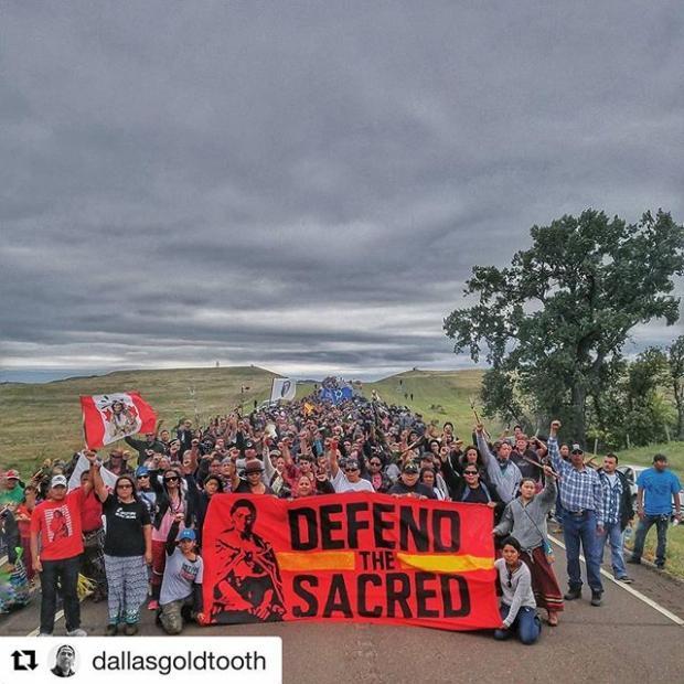 Water Protectors at Standing Rock