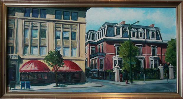 Harold Dodge's painting of the Buffalo Club.