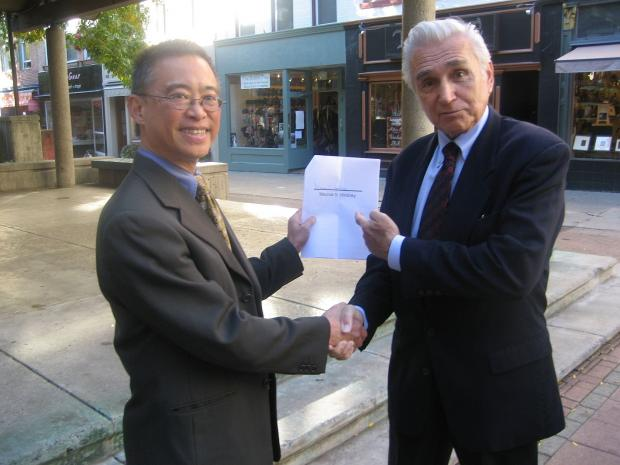 Walter Hang and Maurice Hinchey fighting for a Frack-Free New York
