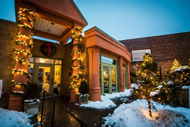 Ristorante Lombardo is all decked out for the holiday season.