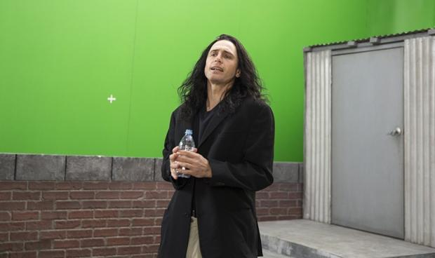 James Franco as film director Tommy Wiseau in The Disaster Artist.