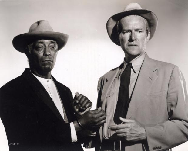 Juano Hernandez and Will Geer in Intruder in the Dust (1949).
