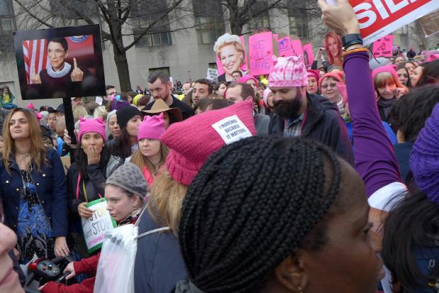 Women's March on Washington rally held on January 21, 2017. Photos by Nancy J. Parisi.