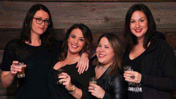 Girls Drink Beer (from left to right): Tessa Lowe,Angela Schroeder, Syrie Roman, and Cassie Czuprynski. Photos byTessa Lowe.
