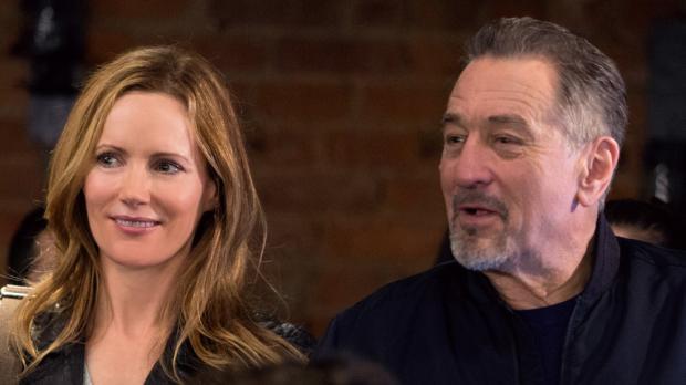 Leslie Mann and Robert De Niro in The Comedian.