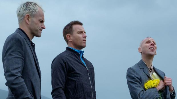 Jonny Lee Miller, Ewan McGregor, and Ewen Bremner in T2 Trainspotting.