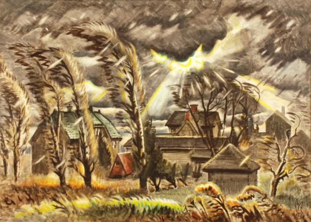 December Storm (1941-1960) by Charles Burchfield.