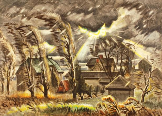 December Storm (1941-1960) by Charles Burchfield.