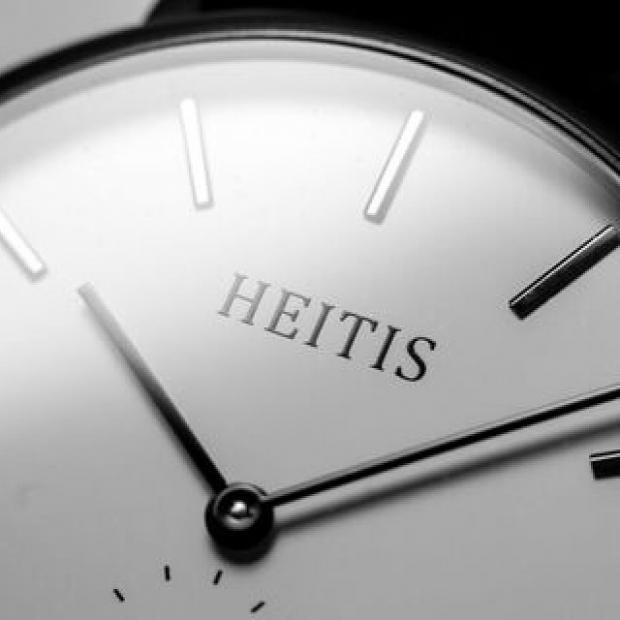 The Heitis Classic, by Western New York watch designer D. J. Heider. Photo courtesy of Heitis Watches.