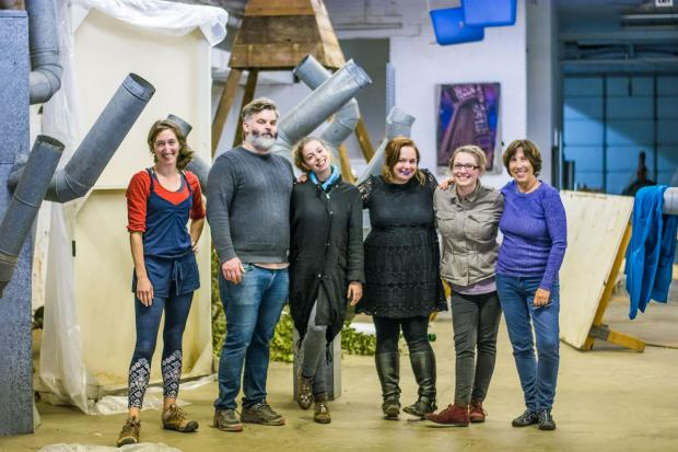 Afirmative Project director Galia Binder (third from left) and a host of the creators whose contributions and collaborations make the initiative. Photo by Emyle Watkins.