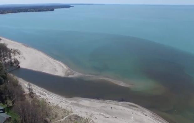 Lake Erie at Big Sister Creek, Bennett Beach