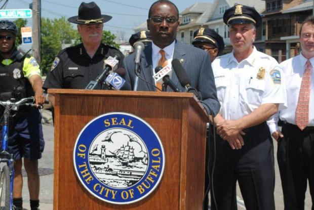 Mayor Brown with Derenda and Erie County Sheriff Tim Howard in 2013.