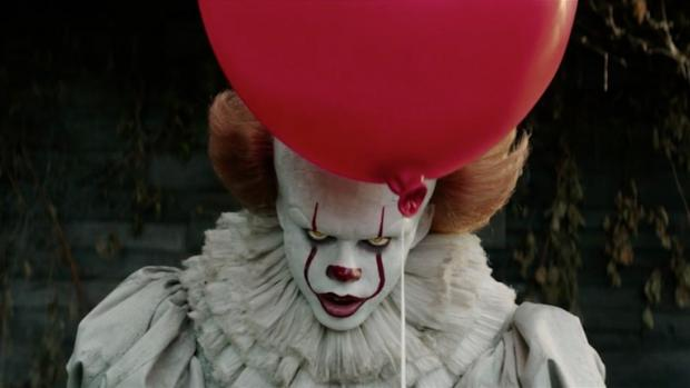Bill Skarsgard as Pennywise in the new adaptation of Stephen King's IT, which opens this week.