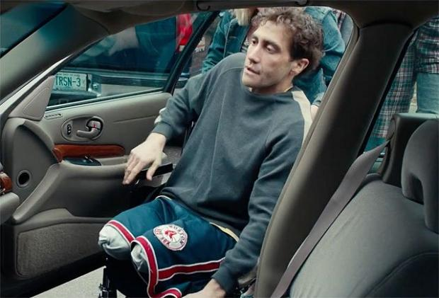Jake Gyllenhaal as Boston Marathon bombing survivor Jeff Bauman in Stronger.