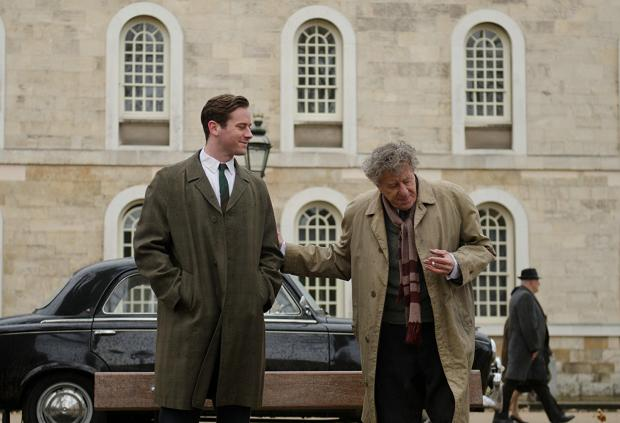 Armie Hammer and Geoffrey Rush in Final Portrait.